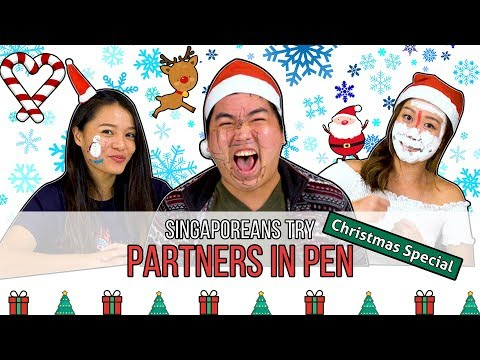 Singaporeans Try: Partners in Pen (Christmas Edition)