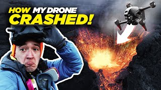 HOW MY DRONE CRASHED INTO A VOLCANO + TIPS TO AVOID IT | Iceland Volcano Eruption