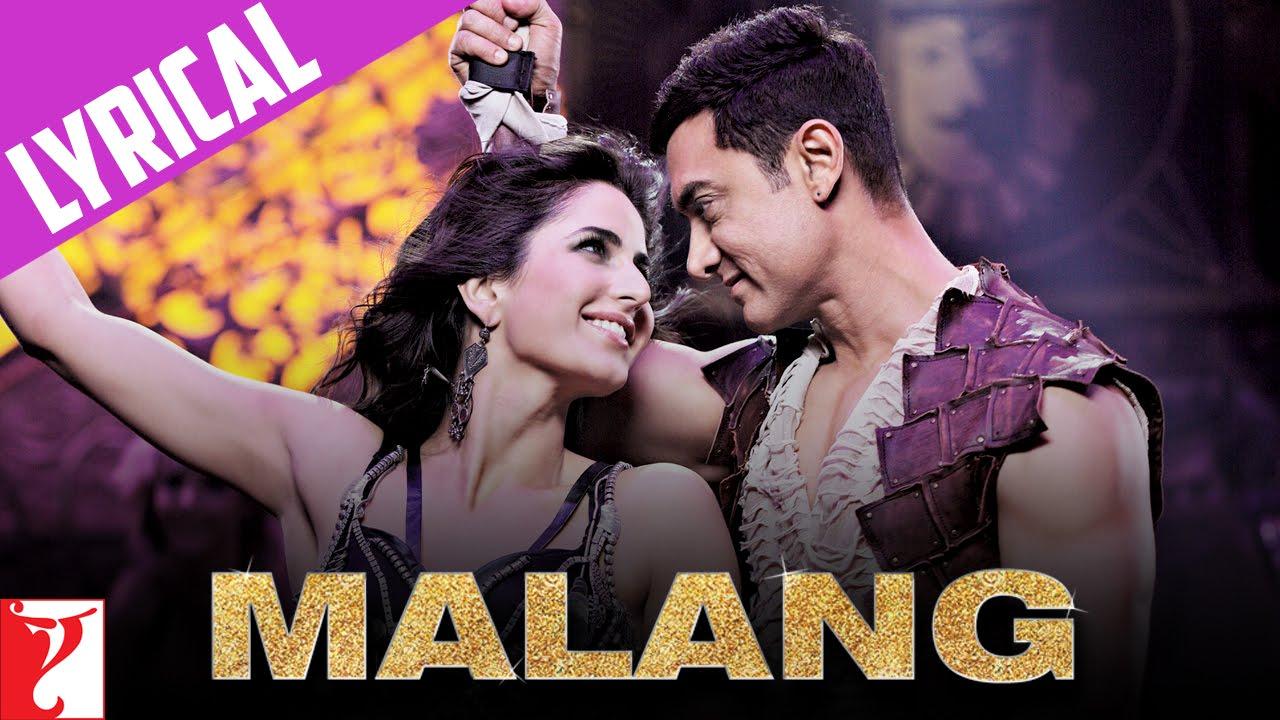 Lyrical Malang Song With Lyrics Dhoom 3 Aamir Khan Katrina Kaif Sameer Anjaan Youtube