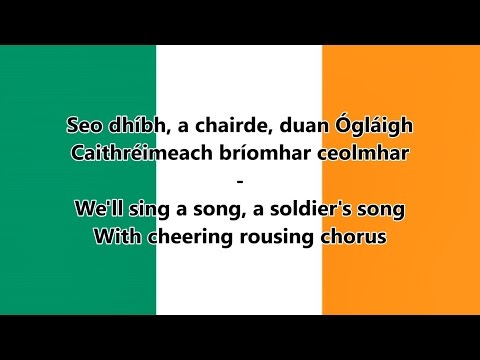 National anthem of Ireland - (IE/EN lyrics) - Irish Version