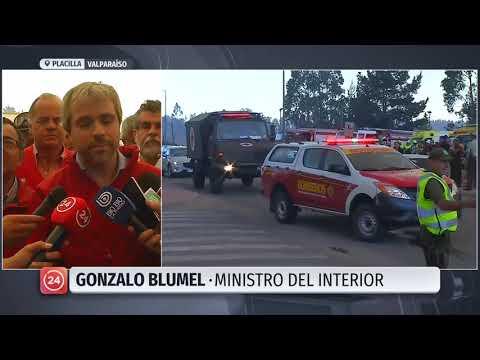 Autoridades Acusan Intencionalidad En Incendios En Valparaíso