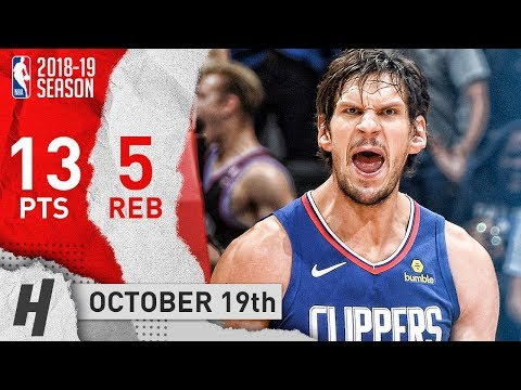 Boban Marjanovic Full Highlights Clippers vs Thunder 2018.10.19 - 13 Pts 5 Reb in 16 Mins
