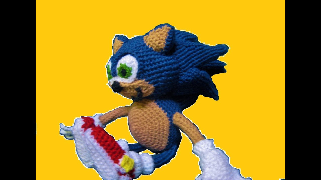 How To Crochet Sonic Part 1 - YouTube 73ce4463697