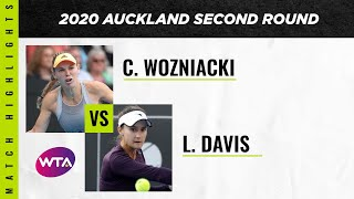 Caroline Wozniacki vs. Lauren Davis | 2020 Auckland Second Round | WTA Highlights