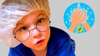 Андрей и папа - истории про мытье рук и профессии