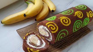 Рулет с Рисунками рецепт приготовления бисквитного шоколадного рулета