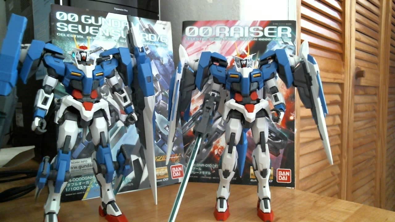 Gundam 00 Raiser Mg Kit Vs Gundam 00 Seven Sword Mg Kit