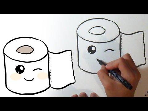 Cómo Dibujar Rollo De Papel De Baño Kawaii Youtube