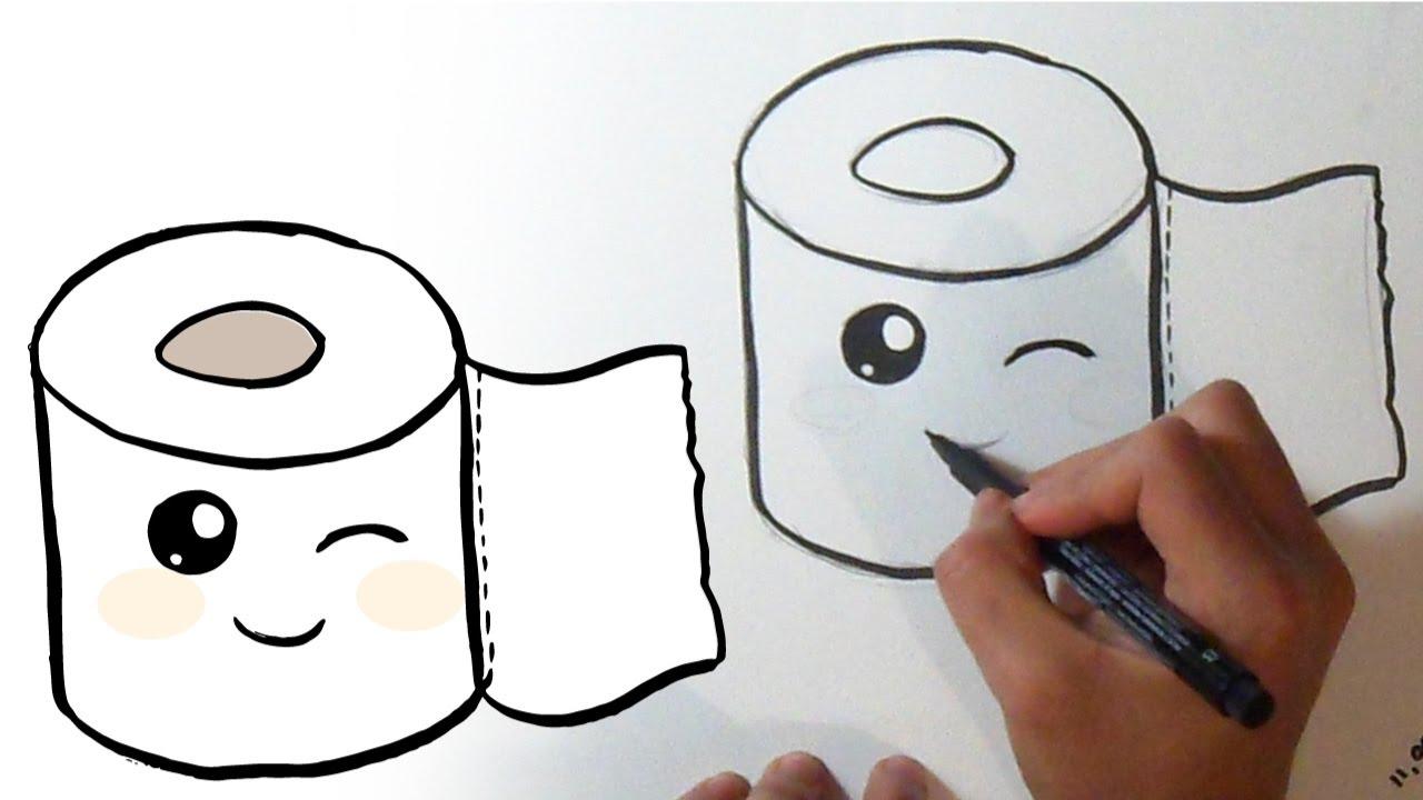 How I Draw Toilet Paper Kawaii