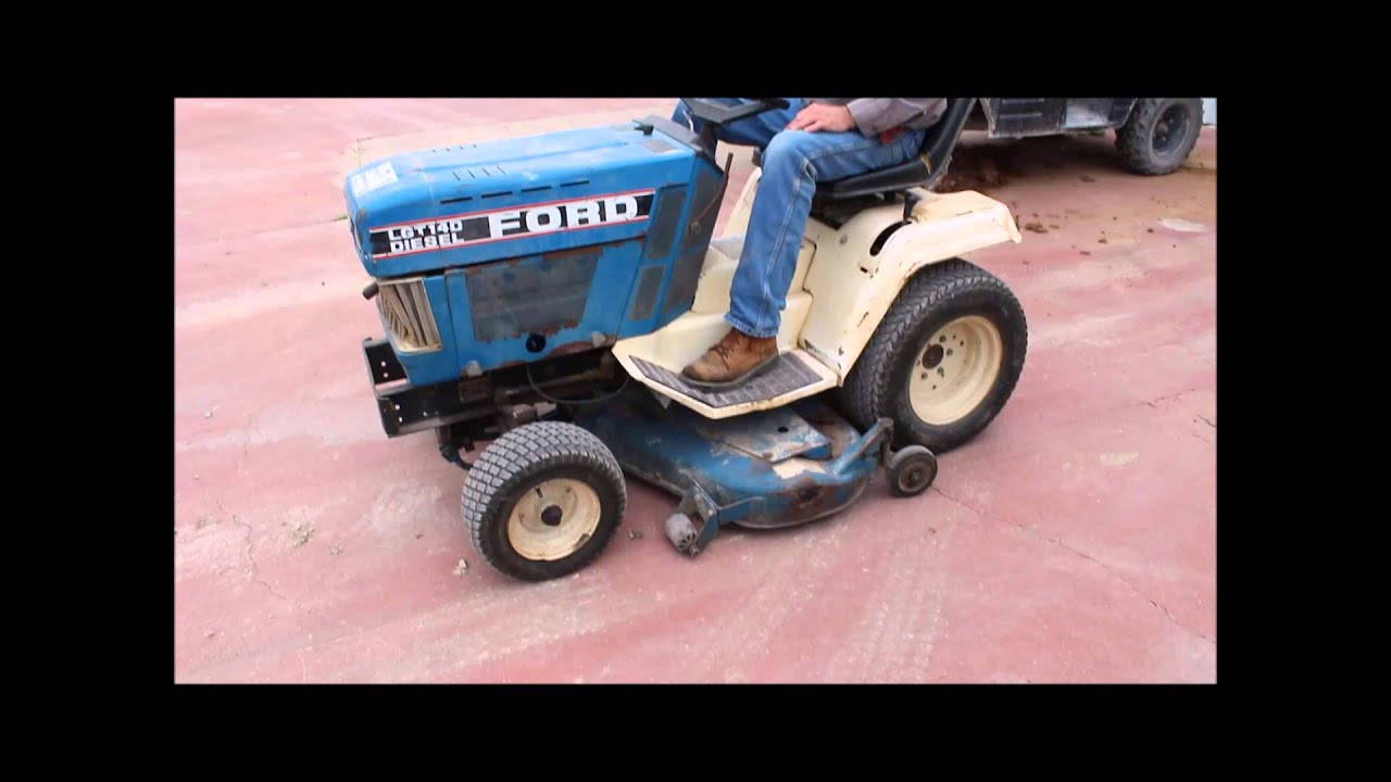 Ford lgt140 lawn mower for sale sold at auction october 1 2014
