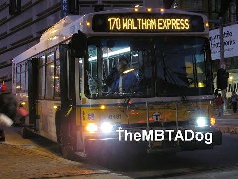 TheMBTADog: MBTA Bus 170 RIde - DUDLEY to WALTHAM CENTRAL SQUARE via MASS PIKE EXPRESS & WEST NEWTON