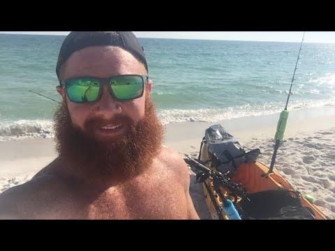 KAYAK FISHING THE GULF OF MEXICO! TROLLING CIGAR MINNOWS!