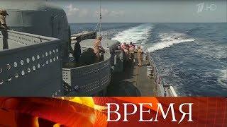 Российский флот изСредиземного моря нанес удар потеррористам вСирии.