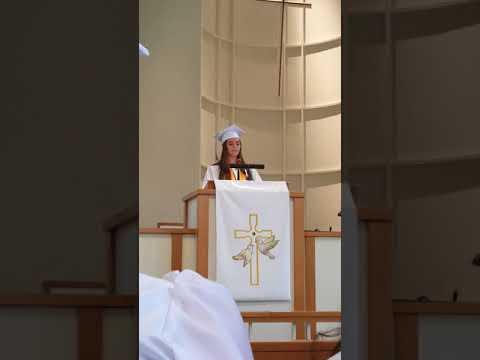 Leila speaking at Hillwood High School Baccalaureate