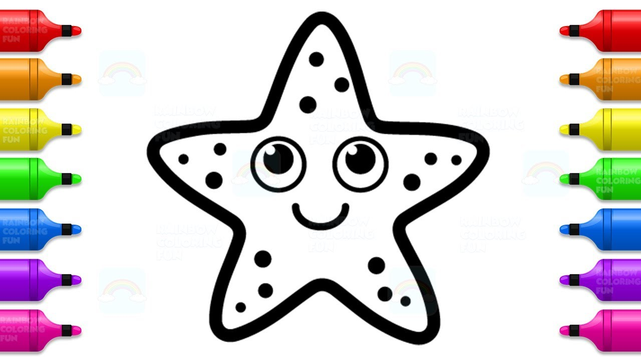 Cute Starfish Coloring Book