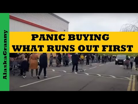 Panic Buying Prepping Supplies Sell Out Fastest