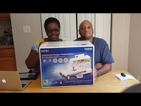 🔴 UNBOXING MY SEWING MACHINE WITH THE QUILTING MARINE | BROTHER 2Q9185