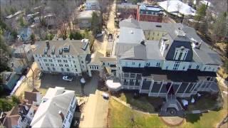 Historic Athenaeun Hotel at the world famous Chautauqua Institution, Q500 drone video, 4 12 15