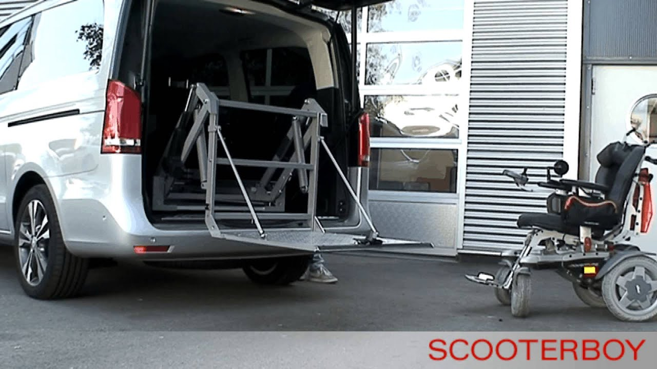 behindertengerechte autos der rollstuhllift scooterboy in. Black Bedroom Furniture Sets. Home Design Ideas
