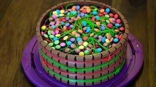 Süßigkeiten-Torte backen deutsch with english subtitles Candy-Cake