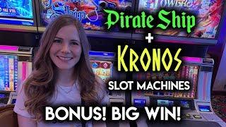 FINALLY A BIG WIN BONUS ON PIRATE SHIP! Slot Machine