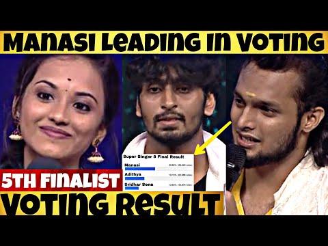 Super Singer 8 Final Voting Wildcard Result | Sridhar Sena | Manasi | Adithya | Top Three Battle
