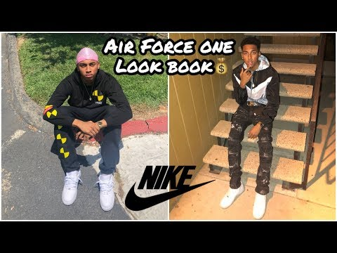 HOW TO STYLE YOUR AIR FORCE ONES 🔥 ( NIKE AIR FORCE ONE LOOK BOOK👟 )