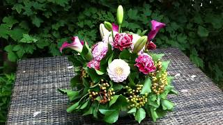 Floral Table Decoration, Using Oasis