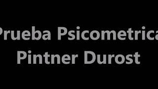 Tutorial prueba psicometrica Pintner Durost