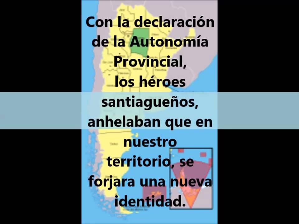 27 de Abril: Día de la Autonomía Provincial (Santiago del Estero) - YouTube