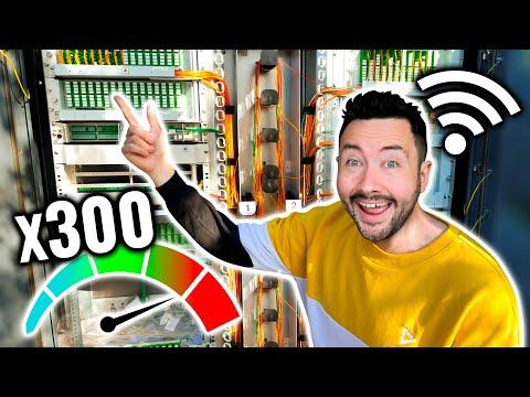 Comment on installe la Fibre Optique ? (x300 vitesse internet, c'est fou)