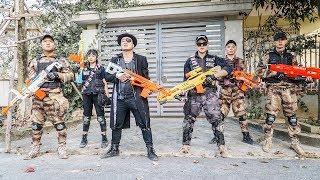 LTT Game Nerf War : SQUAD Warriors SEAL X Nerf Guns Fight Black Man Pro Mercenaries