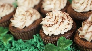 Chocolate Stout Cupcakes With Irish Cream Frosting | Collab With Donal Skehan