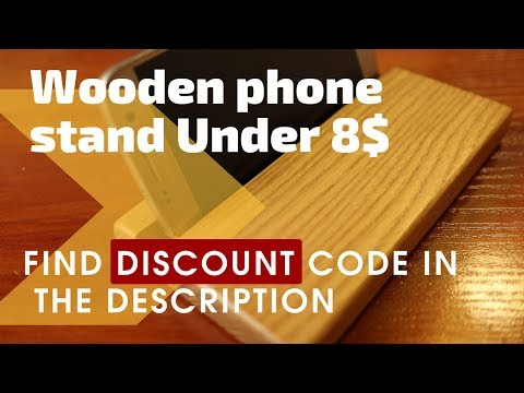 Wooden phone holder table stand homemade. With best price ever!