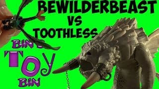 Toothless Battles the BEWILDERBEAST! How To Train Your Dragon 2 Toy Review! by Bin