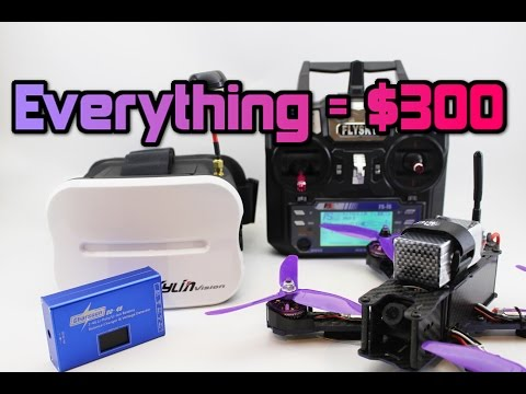 How To Get FPV DRONE RACING For Under $300! Parts +Full Setup.