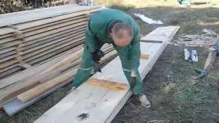 Фундамент для дома своими руками ч.8(В этом видео показано как из досок собрать щиты для опалубки,показан очень простой но оригинальный способ,к..., 2014-10-12T04:55:44.000Z)