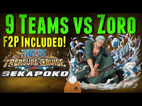9 Teams vs Raid Zoro   One Piece Treasure Cruise