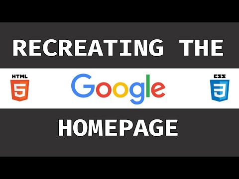 Recreating The Google Homepage With HTML & CSS (Grid, Flexbox)