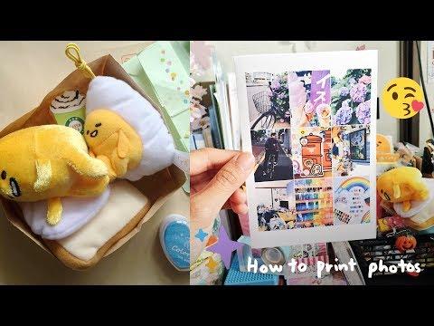 Hobonichi With Me | How I Print My Photos + Mini Desk Paper Trashcan Tutorial 🌻