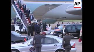 US President arrives for talks with Thai PM