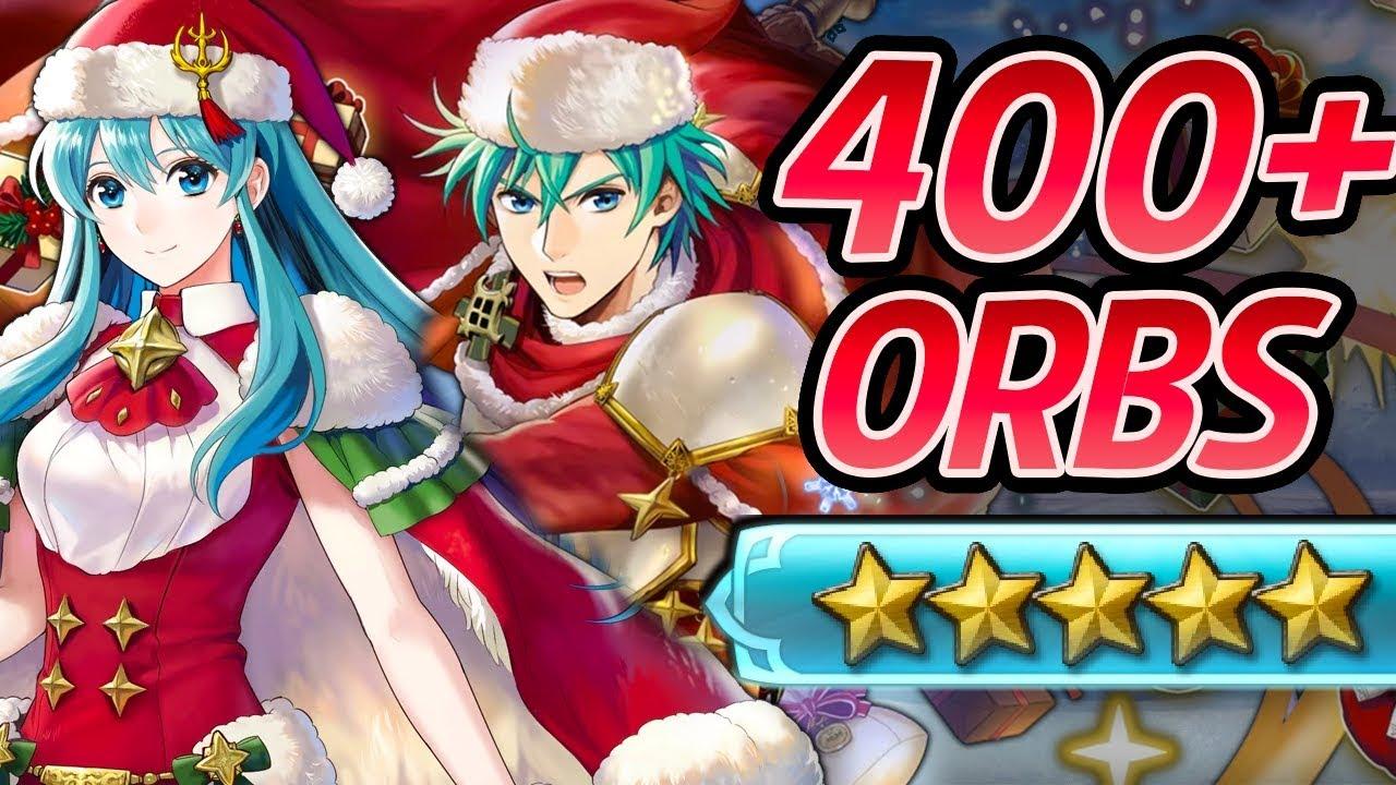 Fe Heroes Christmas.Fire Emblem Heroes 400 Orbs Summons Christmas Eirika Ephraim Fae