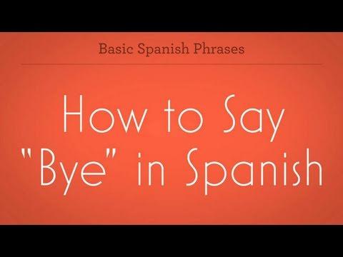 How do you say hi bye friend in spanish