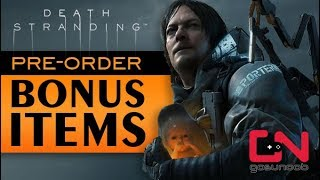 Death Stranding Where to find Pre-Order Bonus Items - How to Claim & Equip