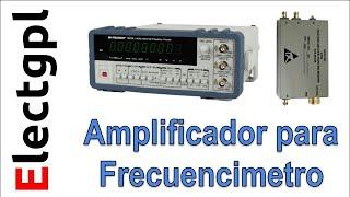 Amplificador para Frecuencímetro