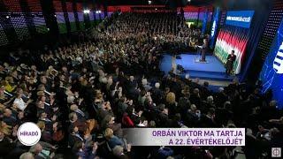 Orbán Viktor ma tartja a 22. évértékelőjét