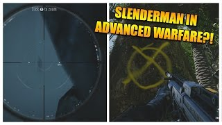 SLENDERMAN IN ADVANCED WARFARE! [Easter Egg]