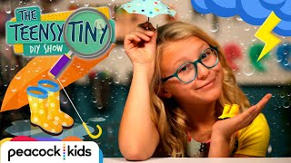 DIY Mini Rain Boots & Umbrella | Kids Crafts at Home | TEENSY TINY DIY SHOW #stayhome #withme