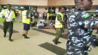 Simulation exercise of terrorist attack at muritala Mohammed  airport in lagos