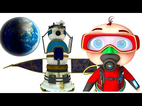 Zool Babies Finding Satellite Underwater | Cartoon Animation